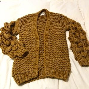 Chicwish Sweaters - Bubble sleeves chunky cardigan